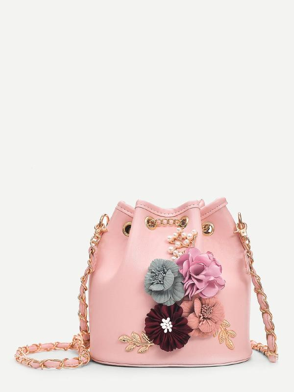 Applique Decor Bucket Bag